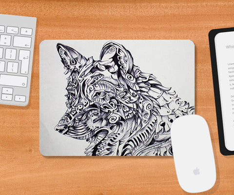 Mousepads, Wolf Abstract 1 Mousepad | Artist: Sherry Sahni, - PosterGully