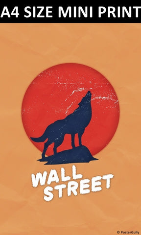 Mini Prints, Wolf Of The Wall Street | Grunge | Mini Print, - PosterGully