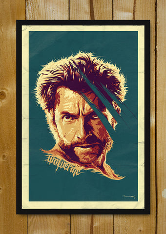 Glass Framed Posters, Wolverine Artwork Glass Framed Poster, - PosterGully - 1