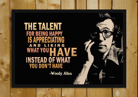 Glass Framed Posters, Woody Allen Quote Glass Framed Poster, - PosterGully - 1