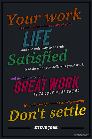 Wall Art, Work Steve Jobs Motivational, - PosterGully