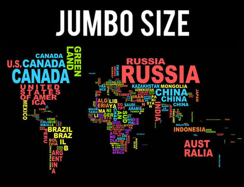 Jumbo Poster, World Map | Informative | Jumbo Poster, - PosterGully