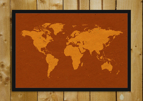 Glass Framed Posters, World Map Vintage Glass Framed Poster, - PosterGully - 1