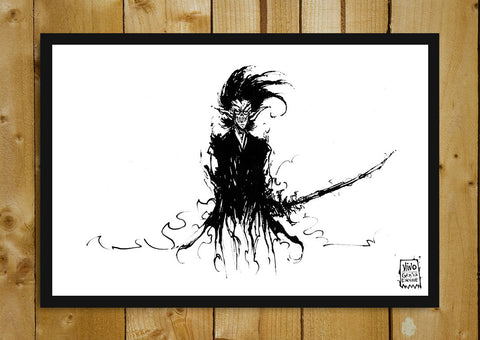Glass Framed Posters, Wraith Assasin Line Art Glass Framed Poster, - PosterGully - 1