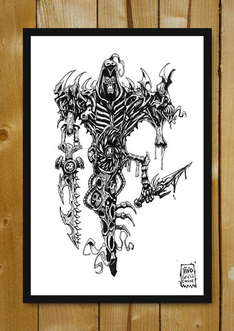Glass Framed Posters, Wraith Line Art Glass Framed Poster, - PosterGully - 1