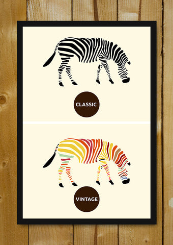 Glass Framed Posters, Zebra Fashion Glass Framed Poster, - PosterGully - 1