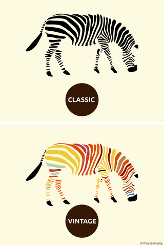Wall Art, Zebra Fashion, - PosterGully