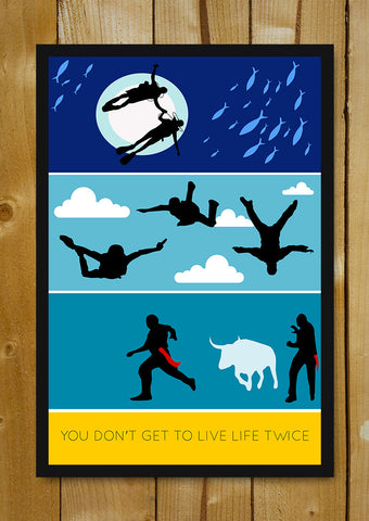 Glass Framed Posters, Zindagi Na Milegi Dobara Minimal Glass Framed Poster, - PosterGully - 1