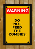 Glass Framed Posters, Zombie Warning Glass Framed Poster, - PosterGully - 1
