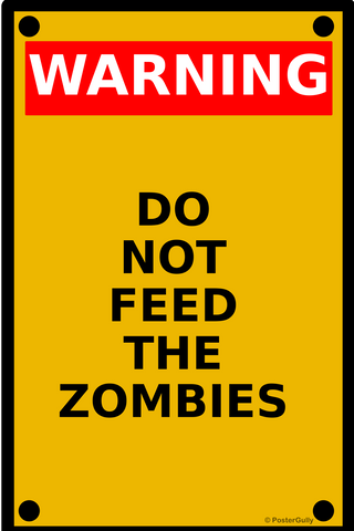 Wall Art, Zombie Warning, - PosterGully