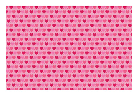 Pink Heart Pattern Art PosterGully Specials