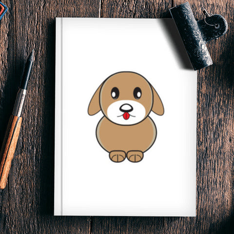 Little Cartoon Puppy Dog Notebook | Artist : Mani Selvam
