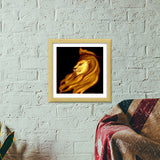 The King | Leo Premium Square Italian Wooden Frames | Artist : Miraculous