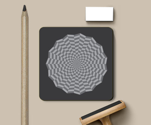 Coasters, ILLUSION-GREY Coasters | Artist : Sonia Punyani, - PosterGully