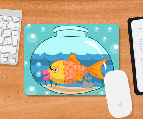 Mousepad, Fish bowl Mousepad | Artist : Anuj Goyal, - PosterGully