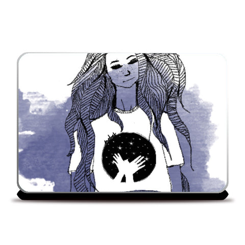 Laptop Skins, Girl Laptop Skin | Artist: Anahat Kaur, - PosterGully