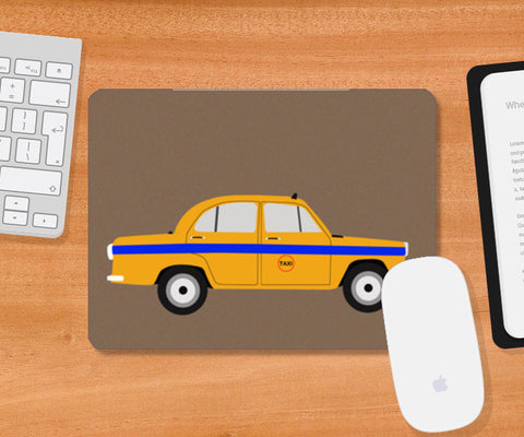 Mousepad, Kolkata- The City Of Yellow Taxi Mousepad | Artist : Sourab Biswas, - PosterGully