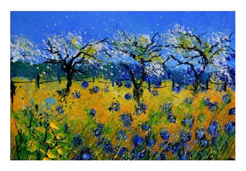 PosterGully Specials, Spring and bue cornflowers Wall Art | Artist : pol ledent | PosterGully Specials, - PosterGully