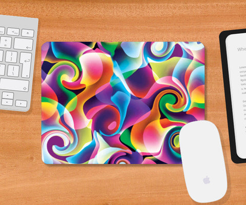 Colorful Abstract Swirls Mousepad | Artist : Design_Dazzlers