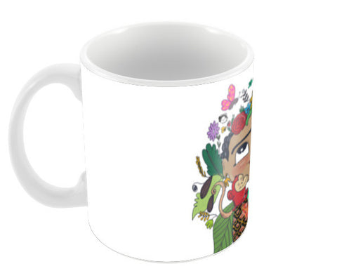 Frida Kahlo Coffee Mugs | Artist : Doodleodrama