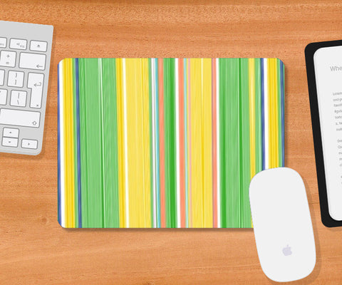 Mousepad, Colorful Vertical Stripes Mousepad I Artist: Seema Hooda, - PosterGully