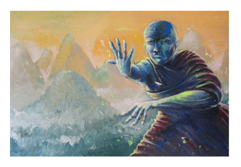Wall Art, The Monk - Painting Wall Art  | Artist : Smeet Gusani, - PosterGully