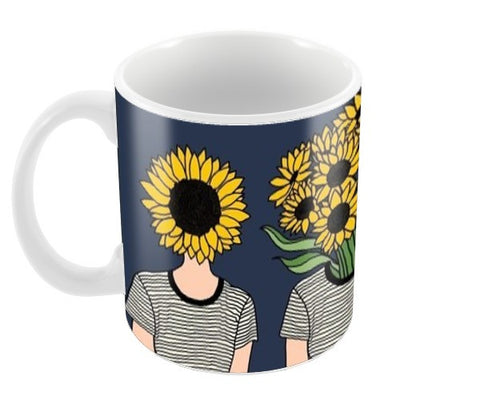Sunflower Humans Coffee Mugs | Artist : Priyanka Paul