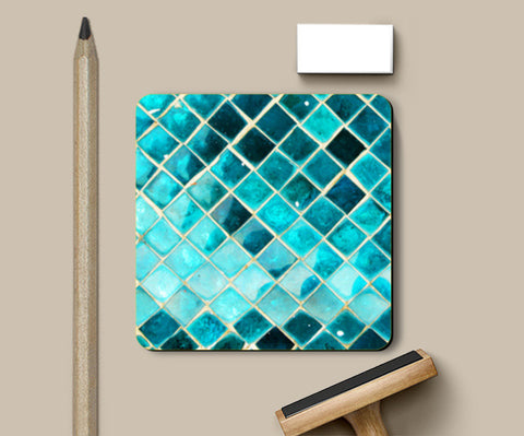 Coasters, Blue Diamond Coasters | Artist : Dr. Green, - PosterGully