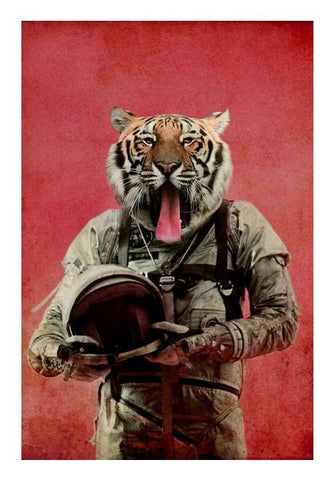 PosterGully Specials, Space tiger Wall Art | Artist : Durro Art | PosterGully Specials, - PosterGully