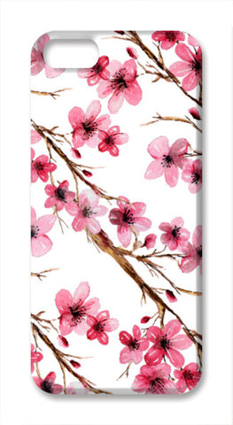Beautiful Pink Spring Cherry Blossoms Floral Pattern iPhone SE Cases | Artist : Seema Hooda