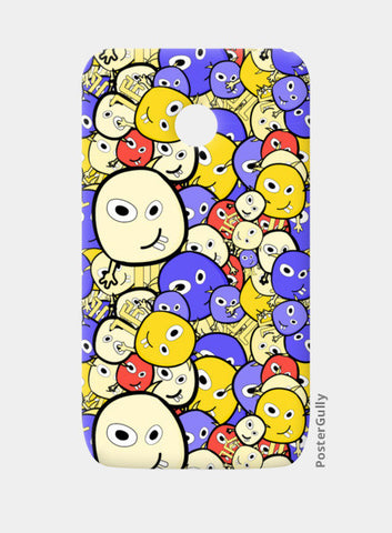 Doodle cartoon characters  Moto E Cases | Artist : Designerchennai