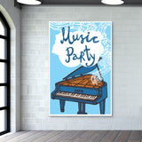 Music Party Giant Poster | Artist : Inderpreet Singh