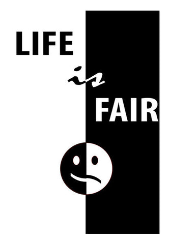 Life is Fair Wall Art | Artist : Natraj Vemuri
