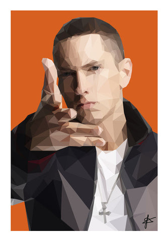 Eminem Polygon  Wall Art | Artist : Jason Ferrao