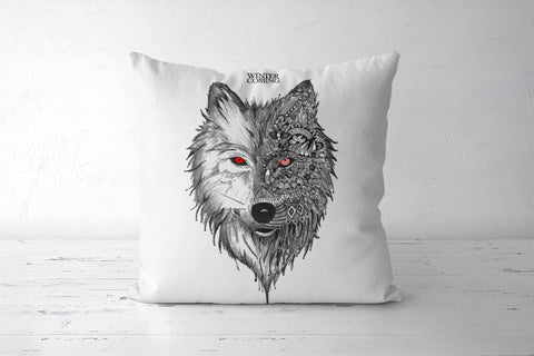 Game Of Thrones | Winter is Coming | Wolf Cushion Covers | Artist : Pragya Bhandari