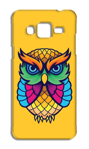 Colorful Owl Samsung Galaxy J3 2016 Cases | Artist : Inderpreet Singh