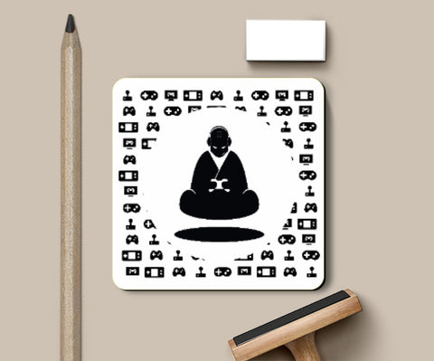 Coasters, Monk Art Coaster | Artist: GamingMonk, - PosterGully