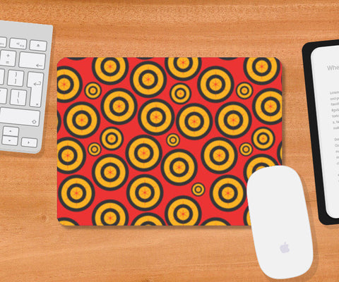 Retro Circle Abstract Design Mousepad | Artist : Designerchennai