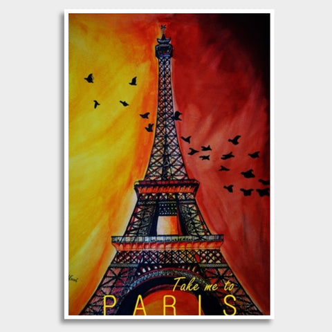 Paris, please? Giant Poster | Artist : Chahat Suri