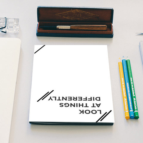 Look at things differently Notebook | Artist : Colour me expressive