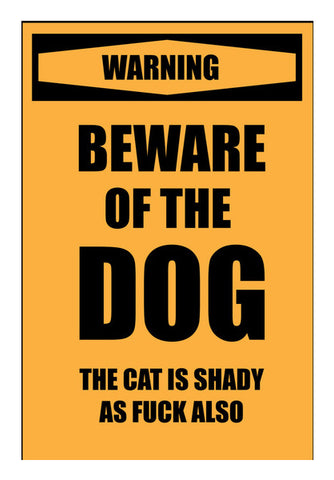 Beware of Dog Wall Art | Artist : Scatterred Partikles