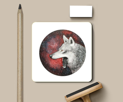 Red Wolf Coasters | Artist : Prakersh Gupta