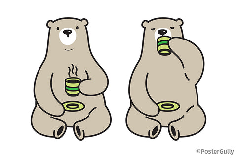 Polar Bear Tea Coffee PArty Artwork