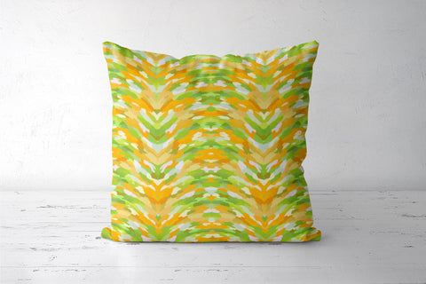Cool Abstract Citrus Color Waves Pattern Cushion Covers | Artist : Seema Hooda