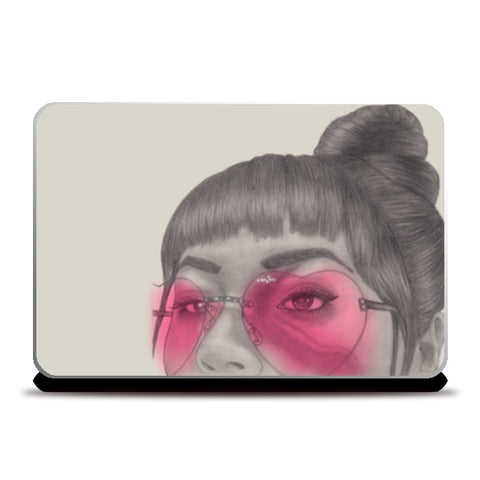 Betty With The Glasses Laptop Skins | Artist : Anniez Artwork