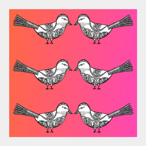Bird Patterns Square Art Prints | Artist : Amulya Jayapal