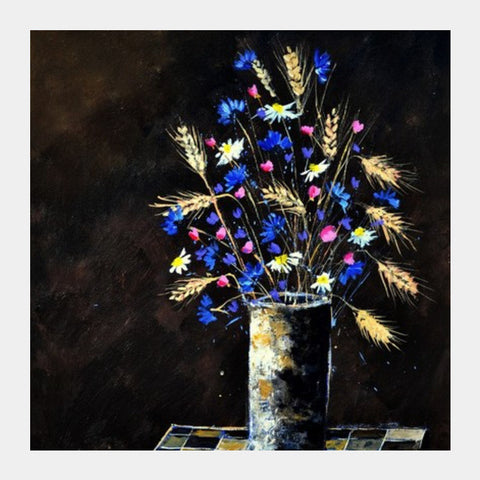 Still Life Field Flowers Square Art Prints PosterGully Specials