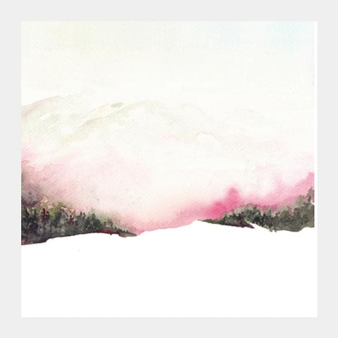 Fading Mountains Square Art Prints PosterGully Specials