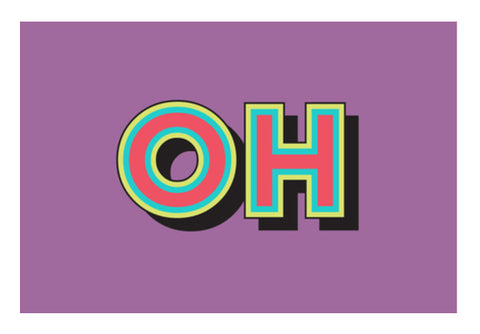 Colorful Pop Art Typography Wall Art  | Artist : Stuti Bajaj