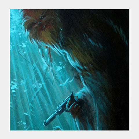 Square Art Prints, Who's Afraid of The Wookie - Painting Square Art Prints | Artist : Smeet Gusani, - PosterGully